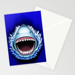 Shark Jaws Attack Stationery Cards
