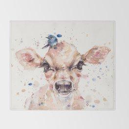 Little Calf Throw Blanket