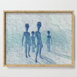 Alien Watchers Serving Tray