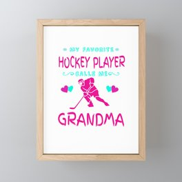 Ice Hockey Gift For Grandma Framed Mini Art Print