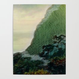Mists In The Pitons: St. Lucia Poster