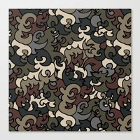 military Canvas Prints featuring Military pattern by Julia Badeeva