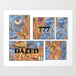 DAZED COMIC LIFE Art Print
