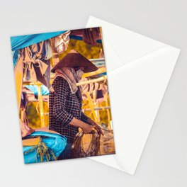 Vietnam boat Stationery Cards
