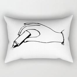 Hand and a Powder Bottle Rectangular Pillow