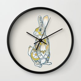 Mandala Bunny Wall Clock