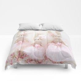 Bunnies Pretty in Pink Comforters