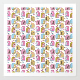 Pattern Project #35 / Let's Talk Art Print