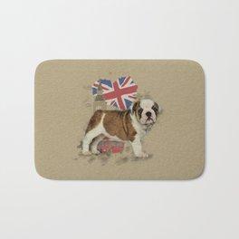 English Bulldog Puppy Sketch Bath Mat