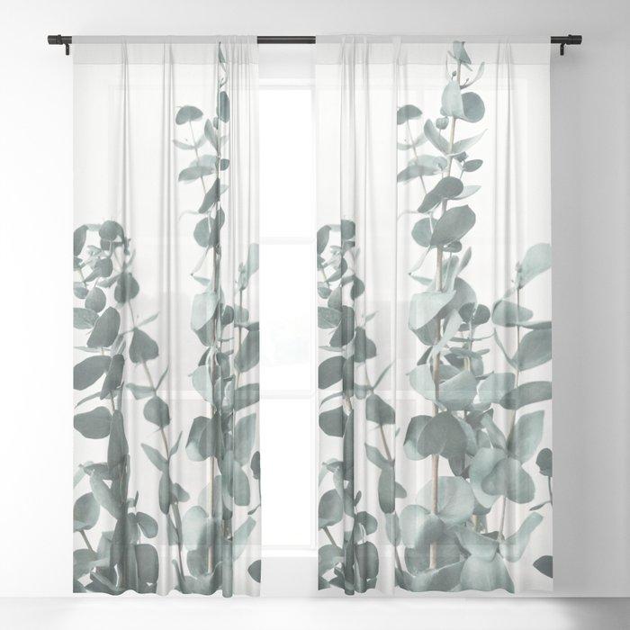 Eucalyptus Leaves Sheer Curtain