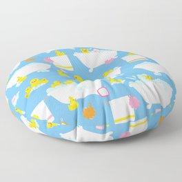 Rubber Duck Baby Bath Time Pattern Floor Pillow