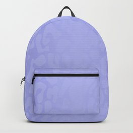 Clouded Blue Shadowed Leopard Print Backpack