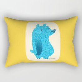 Blue Bear Rectangular Pillow