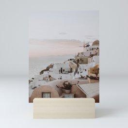 santorini iii / greece Mini Art Print