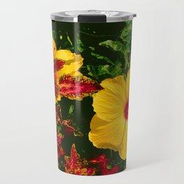 Hibiscus and Coleus Travel Mug