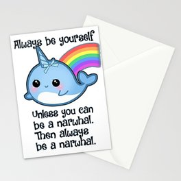 The Always Be A Narwhal Shirt Stationery Cards