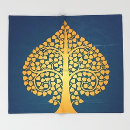 Bodhi Tree0206 Throw Blanket