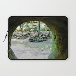 Cave View of Forest Laptop Sleeve