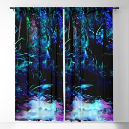 Blacklight Dreams of the Forest Blackout Curtain