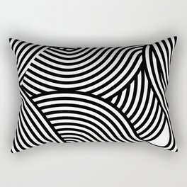 Moving lines Rectangular Pillow