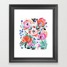 Tropical Floral Framed Art Print