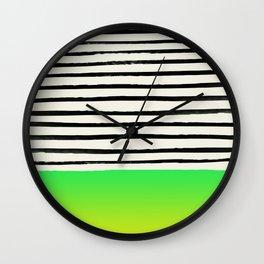 Lightning x Stripes Wall Clock