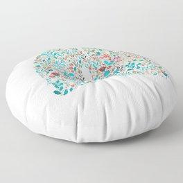 breathing in white Floor Pillow