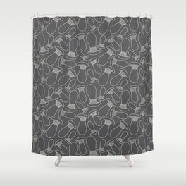 king oyster mushrooms Shower Curtain