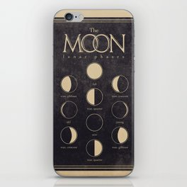 Lunar Phases Moon Cycles iPhone Skin