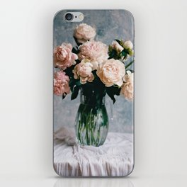 Peonies in the workshop - floral photography iPhone Skin