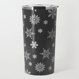 Snow Flurries-Solid Charcoal Travel Mug