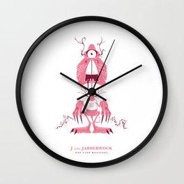 J is for Jabberwock Wall Clock