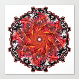 Red Webbing Canvas Print