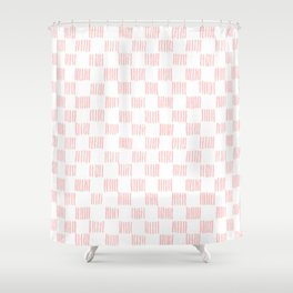 Hatch marks in Pink Shower Curtain