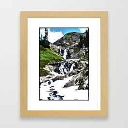 MOUNTAIN*STREAM Framed Art Print