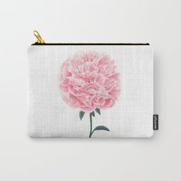 Watercolor peony painting Carry-All Pouch