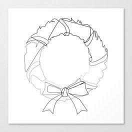 """""""Christmas Collection"""" - Minimal Christmas Wreath Print Canvas Print"""