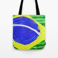brasil Tote Bags featuring BRASIL by Fabiano ART