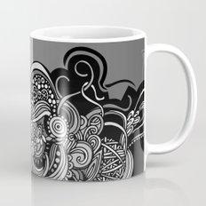 Detailed diagonal tangle, Black Mug
