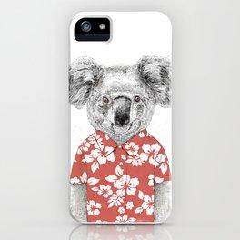 Summer koala iPhone Case