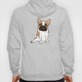 Pouty Cute Black Mask Pied French Bulldog Wants Your Love Hoody