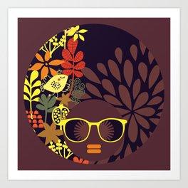 Afro Diva : Sophisticated Lady Deep Art Print