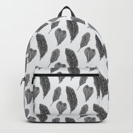 Feather Collection pattern - black and white Backpack