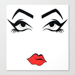 Eyeliner & Lipstick Canvas Print