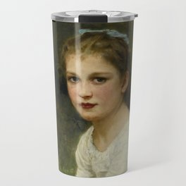 "William-Adolphe Bouguereau ""Young girl with grapes (Jeune fille aux raisins)"" Travel Mug"