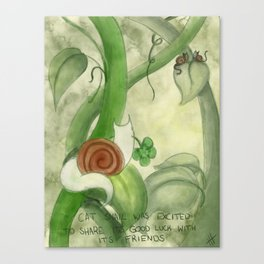 Cat Snail and Friends Canvas Print