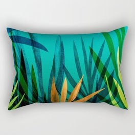 Midnight In The Jungle / Tropical Landscape Rectangular Pillow