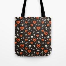 I Heart Halloween Pattern (Black) Tote Bag