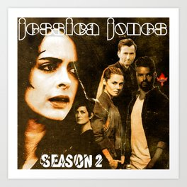 The Doors inspired Jessica Jones CD cover Art Print