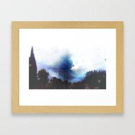 Sunshine through the rain Framed Art Print
